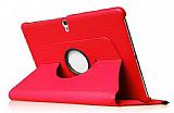 Samsung Galaxy Tab S 10.5 360 Derece Döner Standlı Kırmızı Deri Kılıf