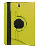 Samsung T820 Galaxy Tab S3 9.7 360 Derece Döner Standlı Sarı Deri Kılıf