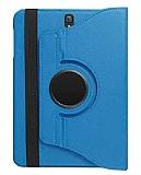 Samsung T820 Galaxy Tab S3 9.7 360 Derece Döner Standlı Mavi Deri Kılıf