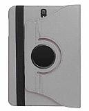 Samsung T820 Galaxy Tab S3 9.7 360 Derece Döner Standlı Silver Deri Kılıf