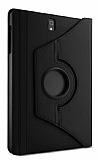 Samsung Galaxy Tab S3 9.7 T820 360 Derece Döner Standlı Siyah Deri Kılıf