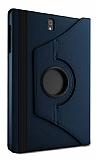 Samsung Galaxy Tab S3 9.7 T820 360 Derece Döner Standlı Lacivert Deri Kılıf