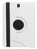 Samsung Galaxy Tab S3 9.7 T820 360 Derece Döner Standlı Beyaz Deri Kılıf