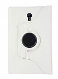 Samsung Galaxy Tab S4 T830 10.5 360 Derece Döner Standlı Beyaz Deri Kılıf