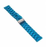 Samsung Galaxy Watch 46 mm Şeffaf Mavi Silikon Kordon