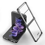 Samsung Galaxy Z Flip3 5G Metal Kenarlı Cam Siyah Kılıf