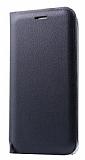 Samsung Grand Prime Pro J250F İnce Yan Kapaklı Cüzdanlı Siyah Kılıf