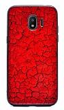 Samsung Grand Prime Pro J250F Marble Kırmızı Silikon Kılıf