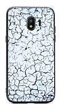 Samsung Grand Prime Pro J250F Marble Beyaz Silikon Kılıf