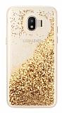 Samsung Grand Prime Pro J250F Simli Sulu Gold Rubber Kılıf
