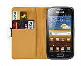 Samsung i8160 Galaxy Ace 2 Beyaz Yan C�zdanl� K�l�f