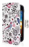 Samsung i8160 Galaxy Ace 2 Bird C�zdanl� Yan Kapakl� K�l�f