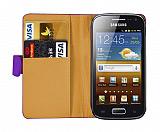 Samsung i8160 Galaxy Ace 2 Mor Yan C�zdanl� K�l�f