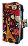 Samsung i8160 Galaxy Ace 2 Paris C�zdanl� Yan Kapakl� K�l�f