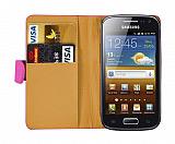 Samsung i8160 Galaxy Ace 2 Pembe Yan C�zdanl� K�l�f