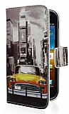Samsung i8160 Galaxy Ace 2 Sar� Taksi C�zdanl� Yan Kapakl� K�l�f
