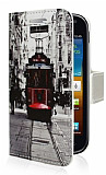 Samsung i8160 Galaxy Ace 2 Taksim C�zdanl� Yan Kapakl� K�l�f