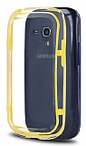 Samsung i8190 Galaxy S3 mini Bumper Çerçeve Sarı Kılıf