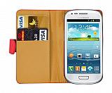 Samsung i8190 Galaxy S 3 Mini K�rm�z� Yan C�zdanl� K�l�f