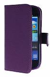 Samsung i8190 Galaxy S 3 Mini Mor Yan Cüzdanlı Kılıf