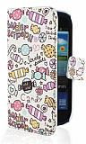 Samsung i8190 Galaxy S3 Mini Candy C�zdanl� Yan Kapakl� K�l�f