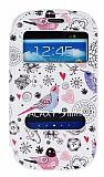 Samsung i8190 Galaxy S3 Mini Gizli M�knat�sl� �ift Pencereli Bird Deri K�l�f