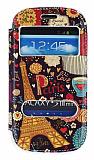Samsung i8190 Galaxy S3 Mini Gizli M�knat�sl� �ift Pencereli Paris Deri K�l�f