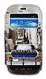Samsung i8190 Galaxy S3 Mini Gizli M�knat�sl� �ift Pencereli Sar� Taksi Deri K�l�f