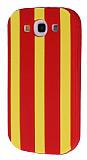 Samsung Galaxy S3 / S3 Neo Kırmızı Çizgili Silikon Kılıf