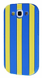 Samsung Galaxy S3 / S3 Neo Lacivert �izgili Silikon K�l�f