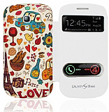 Samsung i8190 Galaxy S3 Mini Pencereli Paris Love K�l�f