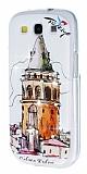 Samsung Galaxy S3 / S3 Neo Ta�l� Galata Kulesi Silikon K�l�f