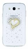 Samsung i9082 Galaxy Grand Duos Kalp Şeffaf Silikon Kılıf
