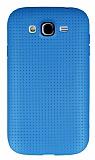 Samsung i9082 Galaxy Grand / i9060 Grand Neo Nokta Desenli Mavi Silikon K�l�f