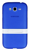 Samsung i9082 Galaxy Grand / i9060 Grand Neo Standl� Mavi Silikon K�l�f