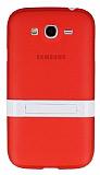 Samsung i9082 Galaxy Grand / i9060 Grand Neo Standl� K�rm�z� Silikon K�l�f