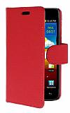 Samsung i9100 Galaxy S 2 K�rm�z� Yan C�zdanl� K�l�f