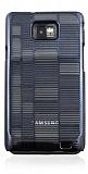 Samsung i9100 Galaxy S 2 �izgili Siyah Rubber K�l�f