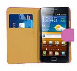 Samsung i9100 Galaxy S 2 Pembe Yan C�zdanl� K�l�f