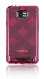 Samsung i9100 Galaxy S2 Ekose Desenli Pembe Silikon K�l�f