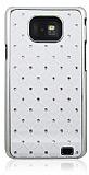 Samsung i9100 Galaxy S2 Ekose Ta�l� Beyaz Sert Rubber K�l�f