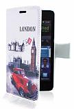 Samsung i9100 Galaxy S2 London C�zdanl� Yan Kapakl� K�l�f