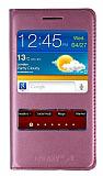 Samsung i9100 Galaxy S2 Pencereli �nce Kapakl� Pembe K�l�f