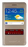 Samsung i9100 Galaxy S2 Pencereli �nce Kapakl� Gold K�l�f