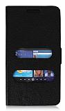 Samsung i9100 Galaxy S2 Pencereli İnce Yan Kapaklı Siyah Deri Kılıf