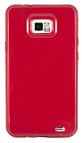 Samsung i9100 Galaxy S2 K�rm�z� Silikon K�l�f