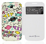 Samsung i9190 Galaxy S4 mini Pencereli Candy Kılıf