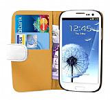 Samsung Galaxy S3 / S3 Neo Beyaz Yan Cüzdanlı Kılıf