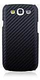 Eiroo Samsung Galaxy S3 / S3 Neo Karbon Fiber Siyah Kılıf