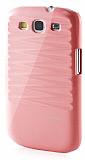 Samsung Galaxy S3 / S3 Neo Desenli Açık Pembe Parlak Rubber Kılıf